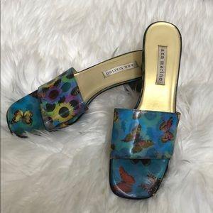 Ann Marino Holographic Butterflies Sunflower Heels